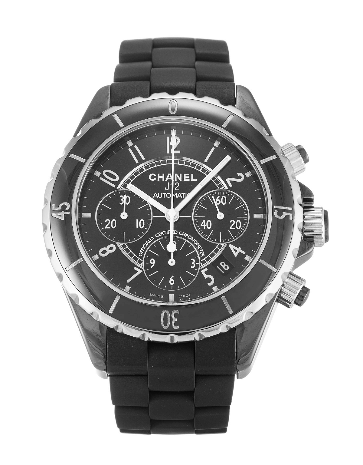 CHANEL J12 Chronograph ラバーベルト H0939