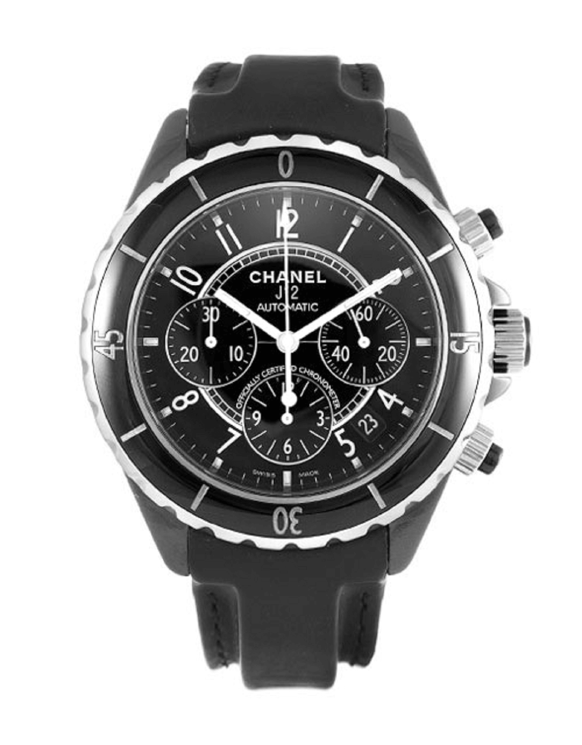 CHANEL J12 Chronograph レザーベルト H0938